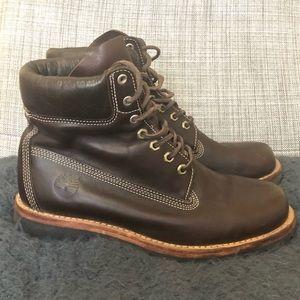 Timberland Waterproof chocolate boots.